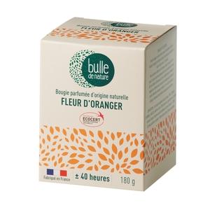 Bougie parfumée Fleur d'oranger 180g bulle de nature 674855
