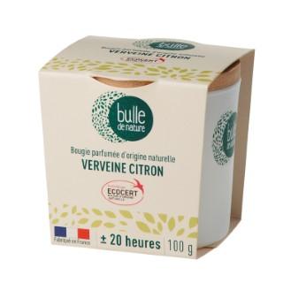 Bougie parfumée Verveine citron 100g bulle de nature 674858