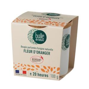 Bougie parfumée Fleur d'oranger 100g bulle de nature 674863