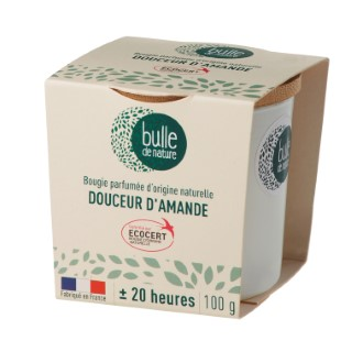 Bougie parfuméeBulle de naturecontrôlée par Ecocert Greenlifesenteur Douceur d'amandes - 100 g 674864