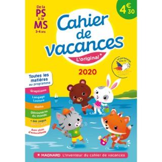 Cahier de vacances 2020 première à moyenne section éditions Magnard 674907