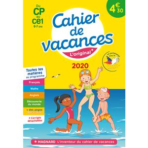 Cahier de vacances 2020 CP à CE1 aux éditions Magnard 674916