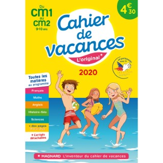 Cahier de vacances 2020 CM1 à CM2 aux éditions Magnard 674922