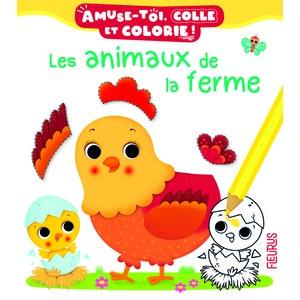 Les animaux de la ferme – Amuse-toi, colle et colorie éditions Fleurus 674946