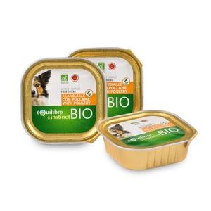 Pâtée bio pour chien à la volaille en barquette de 150 g 674976