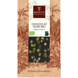 Chocolat noir bio aux oranges confites - tablette de 100 g 675674