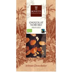 Chocolat noir bio aux fruits secs - 100 g 675675