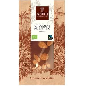 Chocolat au lait bio aux amandes - 100 g 675679