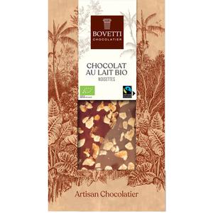 Chocolat au lait bio aux noisettes - 100 g 675680