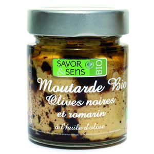 Moutarde bio aux olives noires et romarin 130 g 675810
