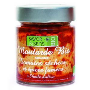 Moutarde bio aux tomates séchées et épices fumées 130 g 675811