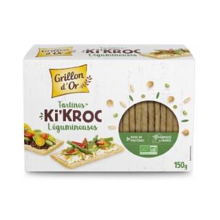 Tartines Ki'kroc aux légumineuses bio en boîte carton de 150 g 676262