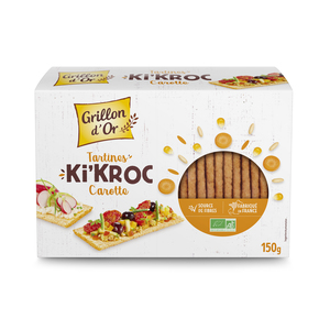 Tartines Ki'kroc à la carotte bio en boîte carton de 150 g 676263