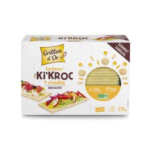 Tartines Ki'kroc aux 5 céréales bio en boîte carton de 150 g 676264