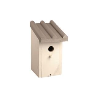 Nichoir Kiev cottage gris pour oiseaux 14x17xH27 cm 676293