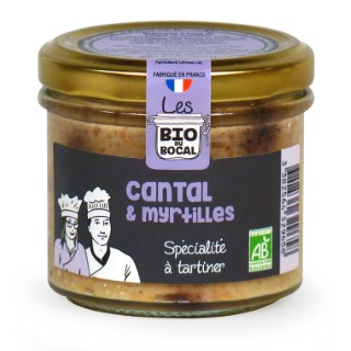 Tartinable au cantal & myrtilles en verrine de 90 g 676409