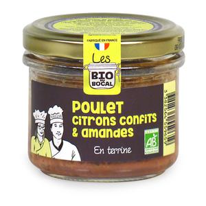 Terrine poulet citrons confits & amandes en verrine de 90 g 676413