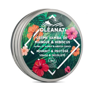 Crème Samba de Mangue & hibiscus biologique Oleanat Pot 50 ml vert 676692