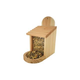 Mangeoire en pin 2 en 1 pour oiseaux ou écureuils 18 x 20 x 24 cm 676767