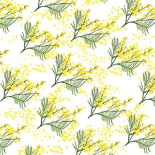 Serviettes x20 intissé mimosa 40x40 cm 676902