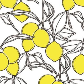 Serviettes x20 intissé citronnier 40x40 cm 676907