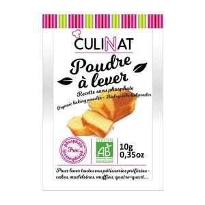 Poudre à lever Culinat sans phosphate 8x10g 677273