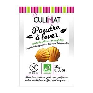 Poudre à lever sans gluten sans phosphate Culinat 8x10g 677274