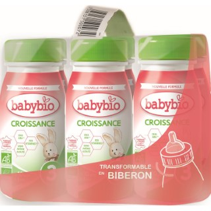 BABYBIO Croissance Liquide bio dès 10 mois – 6x25cl 677279