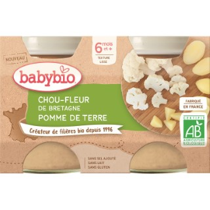 Petits Pots chou-fleur de Bretagne Pomme de terre - 2x130 gr 677284
