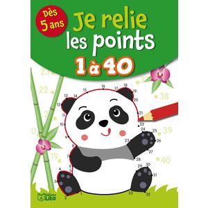 Je relie les points de 1 à 40 aux éditions Lito 677322