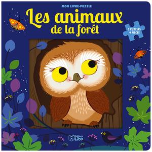 Mon livre puzzle – Les animaux de la forêt de 9 pièces éditions Lito 677325