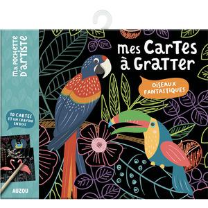 Oiseaux merveilleux - mes cartes à gratter aux éditions Auzou 677770
