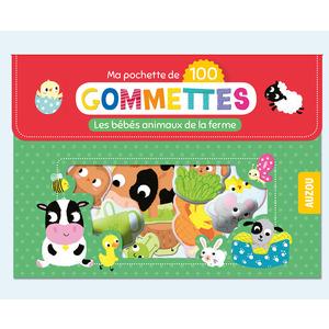 100 gommettes - les bébés animaux de la ferme aux éditions Auzou 677776