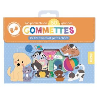 50 gommettes - petits chiens et petits chats aux éditions Auzou 677777