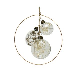 Disques verre cercle bronze Ø17,5 cm 679348