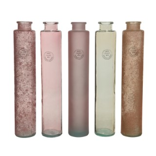 Vase verre recyclé Ø6x32 cm 679426