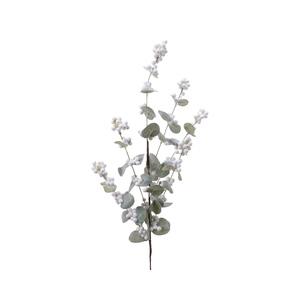Branche de baies blanches à paillettes 679449