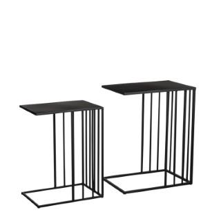 Table de service Paco grand modèle noir 45x30x57 cm 680227