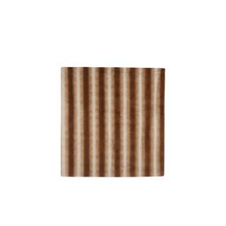 Plaid à lignes marron clair en polyester 170x130 cm 680350