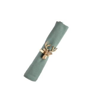 Support de serviette cerf coloris or Ø 5 x 8 cm 680402
