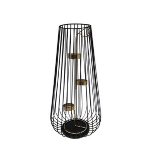 Lanterne filaire avec bougeoir 680599