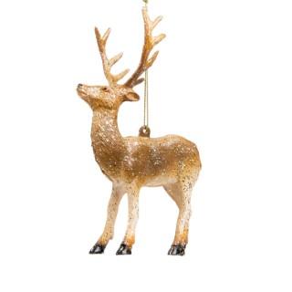 Ornement renne à suspendre en plastique brun 11,51x5,79x15 cm 680704