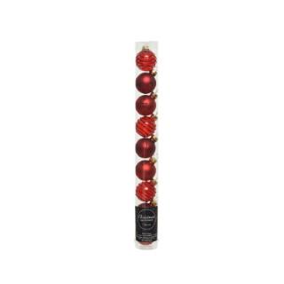 Boîte Boules Verre Déco Mix Rouge Ø3 cm 680885