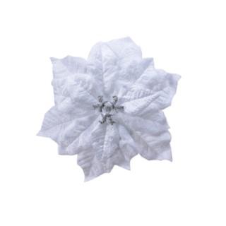 Poinsettia Plastique sur Clip Ø16x3 cm 681358