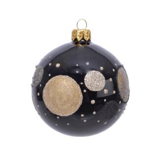 Boule Verre Deco Cercles Dots Ø8 cm 681462