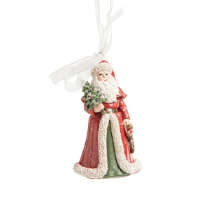 Père Noël avec Arbre Résine H7.5 cm 681470