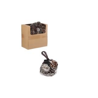 Pot pourri pomme de pin blanc ou marron parfum cannelle Ø 12 cm 681562