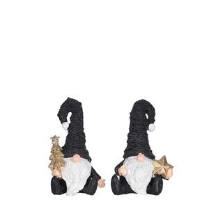 Décoration de Noël gnome noir à poser 8x5x12 cm 681571