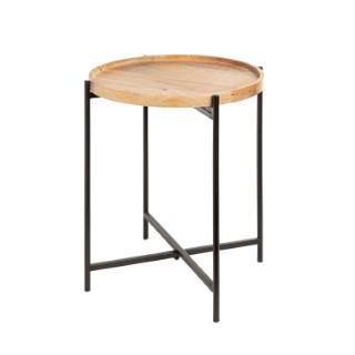 Table basse à plateau rond en bois Ø 42 x 45 cm 681746