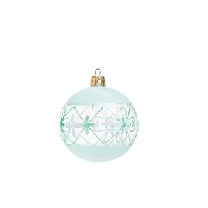 Boule de Noël blanche traditionnelle en verre - Ø 7 cm 681919